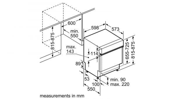 Neff S41E50N1GB 60cm Semi Integrated Dishwasher 5