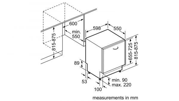 Neff S513G60X0G 60cm Fully Integrated Dishwasher 6