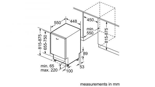 Neff S58T40X0GB 45cm Slimline Fully Integrated Dishwasher 3