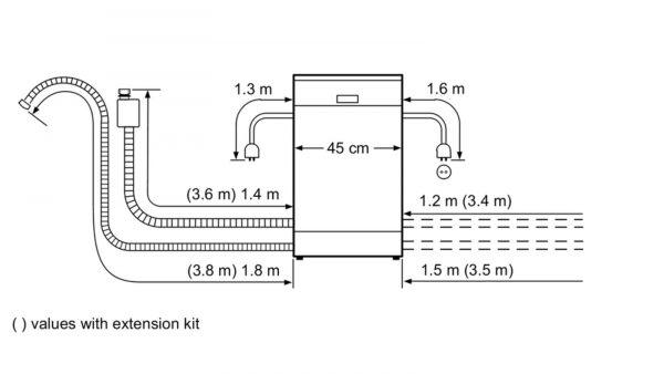 Neff S58T40X0GB 45cm Slimline Fully Integrated Dishwasher 4