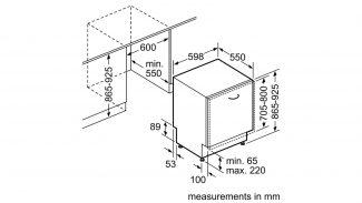 Neff S723M60X0G 60cm Fully Integrated Dishwasher 7