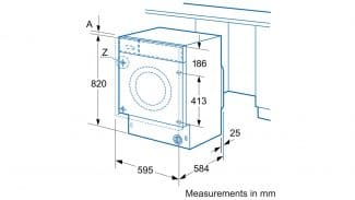 Neff V6540X1GB Built-in Washer Dryer 4