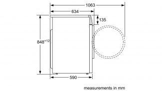 Neff V7446X1GB Freestanding Washer Dryer 4