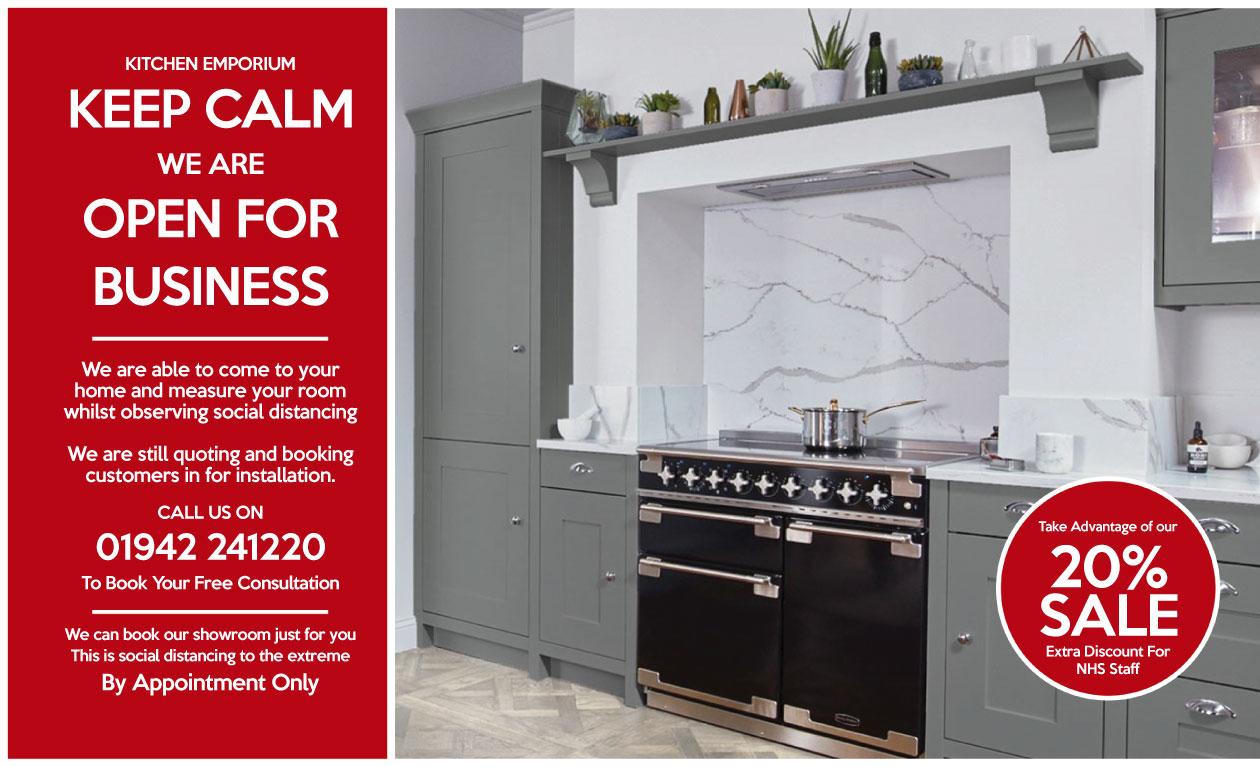 Now Open. Kitchen Design Wigan Lancashire By Kitchen Emporium