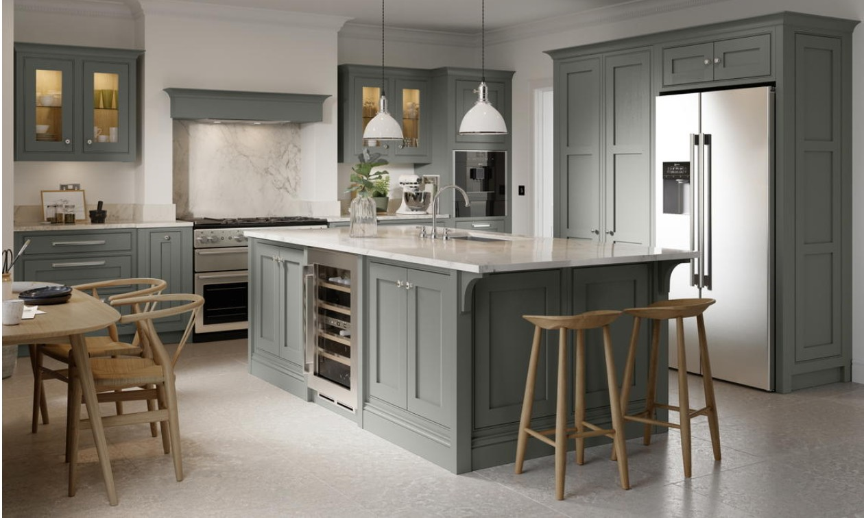 Clarendon Dust Grey Inframe Fitted Kitchen
